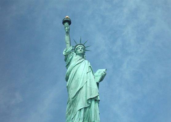 La Libertad iluminando al mundo.