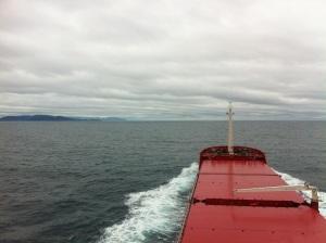 El Cabo Cee próximo a doblar la Estaca de Bares y Cabo Ortegal con inusual buen tiempo.
