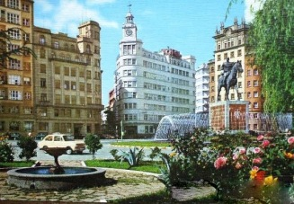 Plaza de España del Ferrol antes de la horrible remodelación.