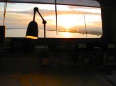 Remontando el Guadalquivir al amanecer.