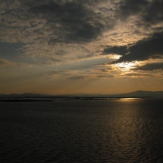 Saliendo a la Mar al amanecer.