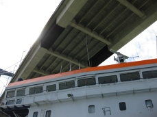 Bajo el Puente del Centenario.