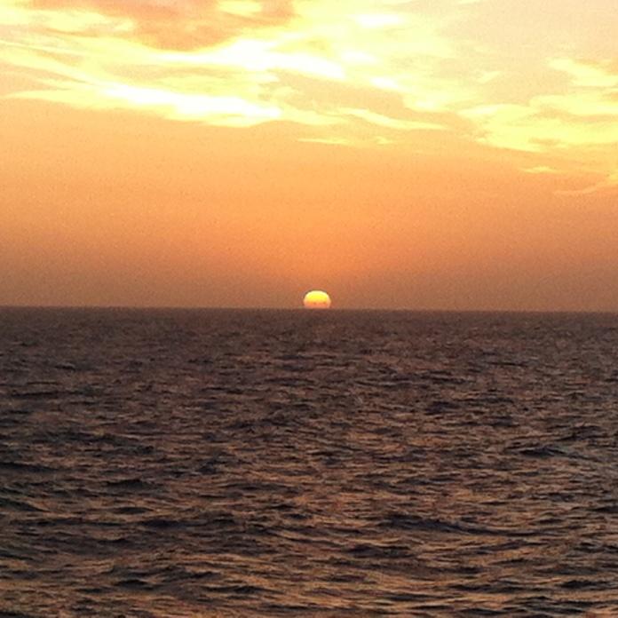 Navegando hacia el ocaso