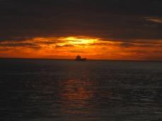 Navegando hacia Poniente, próximos a embocar el Estrecho de Gibraltar