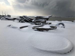 Muelles nevados al paso de La Bestia del Este
